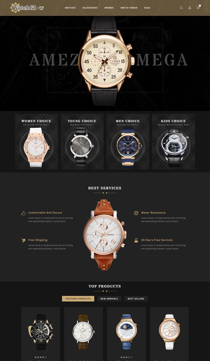 รับทำเว็บขายนาฬิกา รับทำเว็บขายเครื่องประดับ